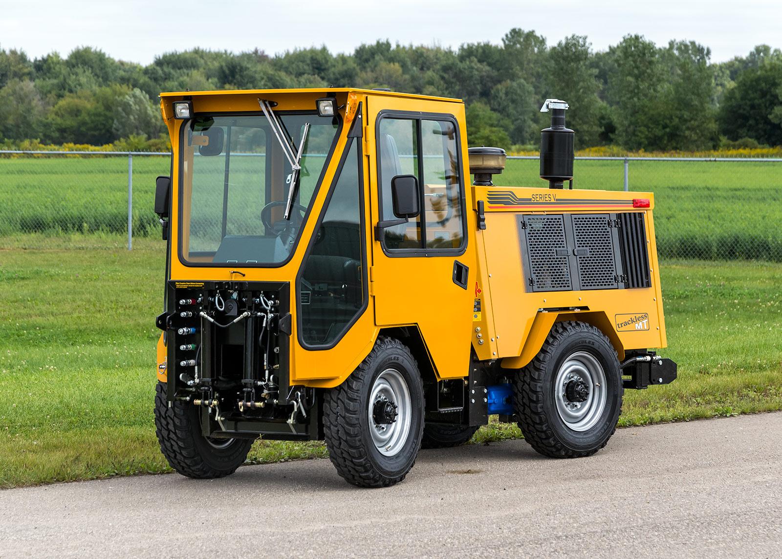 trackless vehicles history mt5 model sidewalk municipal tractor