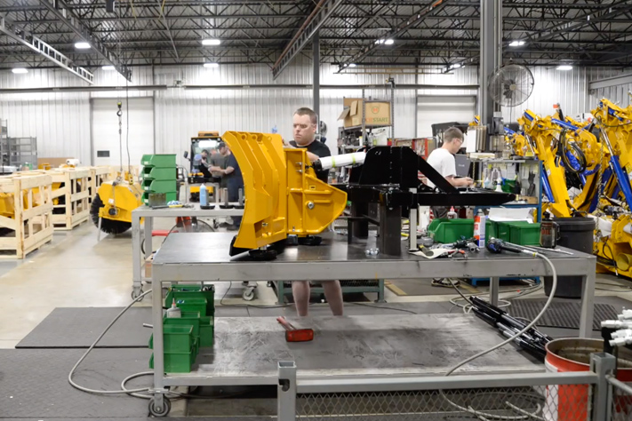 trackless vehicles time lapse tuesday video building folding v-plow attachment